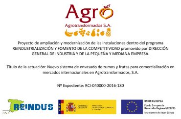 2016 AGROTRANSFORMADOS – REINDUS